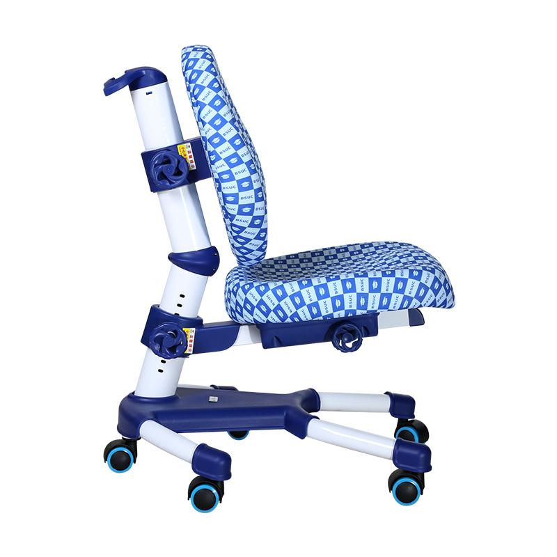 DRY-501可升降學習椅藍色側面