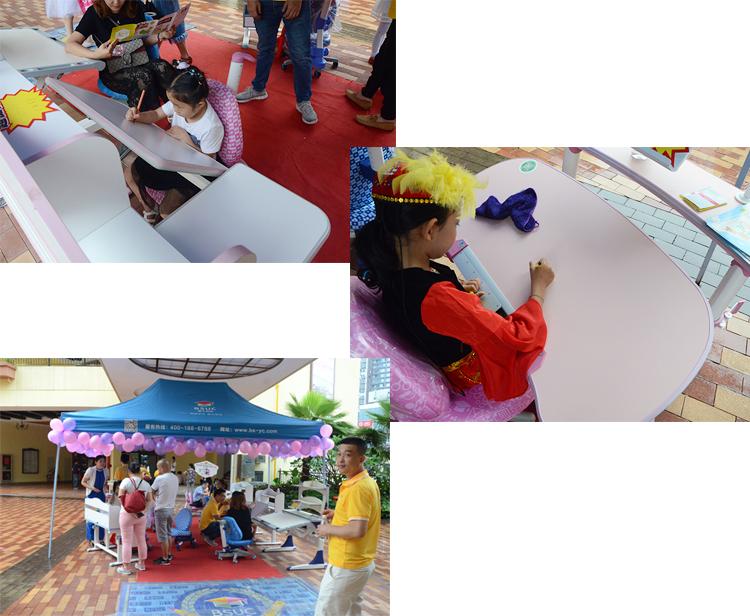 小朋友们纷纷体验博士有成儿童学习桌