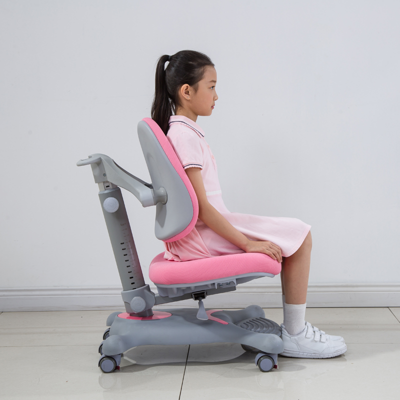 DRY-802儿童矫姿椅子侧面粉色