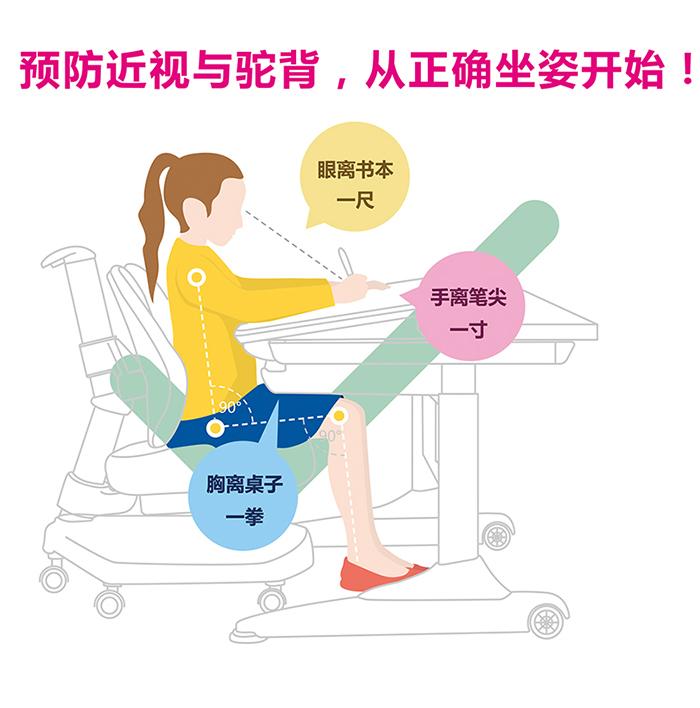学习桌椅高度如何调节?