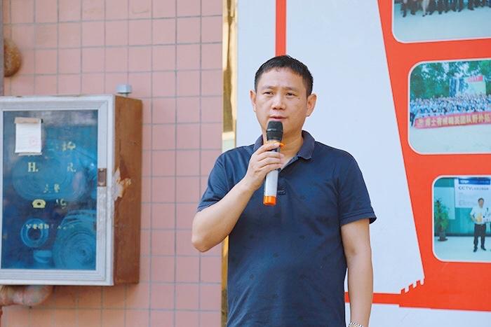 博士有成学习桌董事长王洪贵发表重要讲话